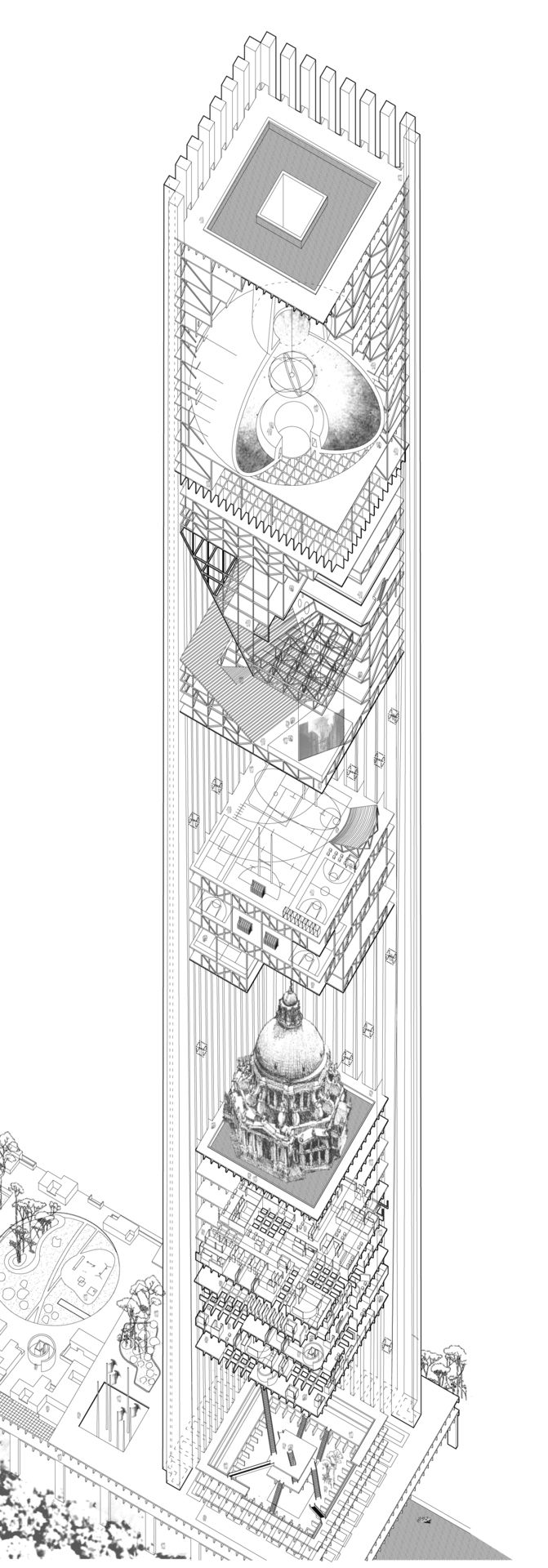 Architectural Drawings Of Skyscrapers 151 best massing images on pinterest | architecture, skyscrapers