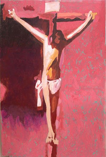 110121 acrylic Meditation on the Holy Cross by John Warren Oakes