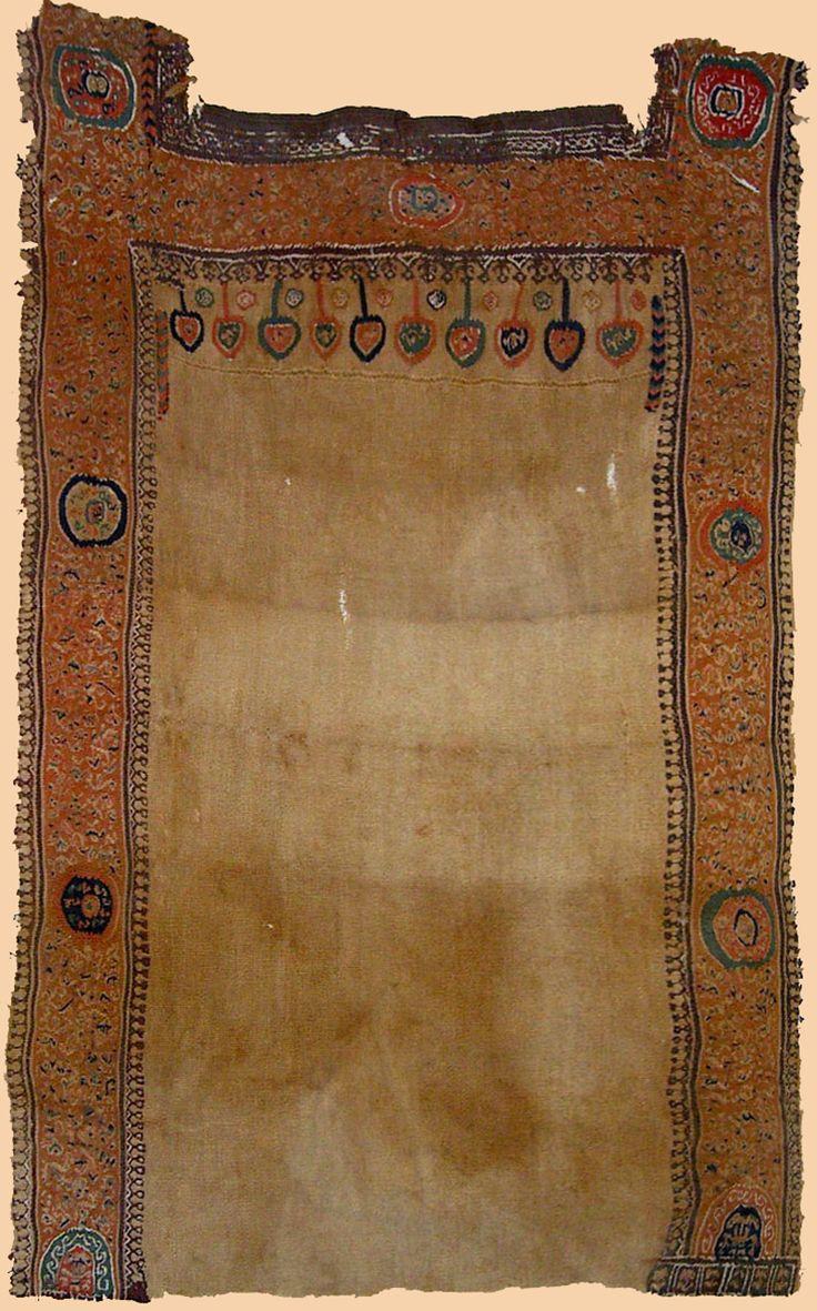 "Antique Coptic Textile. Egyption Coptic. Tunic textile fragment.  300-200 A.D.      Size 27"" x 12""  Size 69 x 31cm    From : H.Kevorkian Collection"