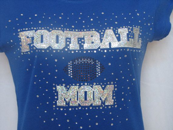 Sequin and Rhinestone Football Mom Jersey Fashion by SportsThreads