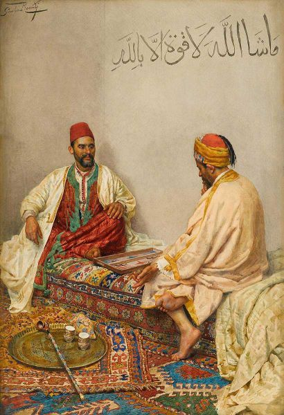 The Backgammon Players - Giulio Rosati (Italian)