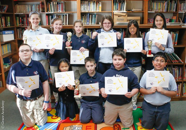 <p> Congratulations to the nine Grace Academy elementary and middle school students who won first places and runners-upin the 2016 Scripps Spelling Bee competition on Tuesday, January 19. In fifth grade, participants included Emily Kholerand Noelle Cunninghamwith first place winner Marlie Snyder, second place winner Raj Saxena and third place winner Gracie Johnson. From sixth…</p>