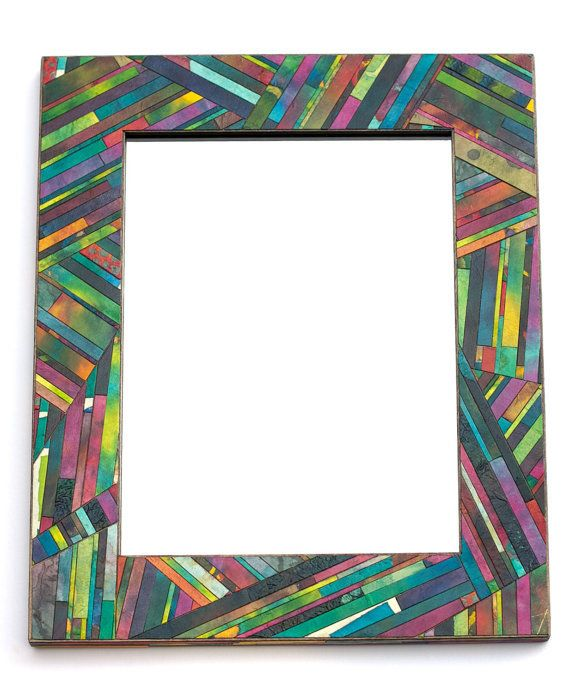 Striped Wall Mirror, Colorful Abstract Mosaic M... in Manitowoc, WI, USA ~ Krrb