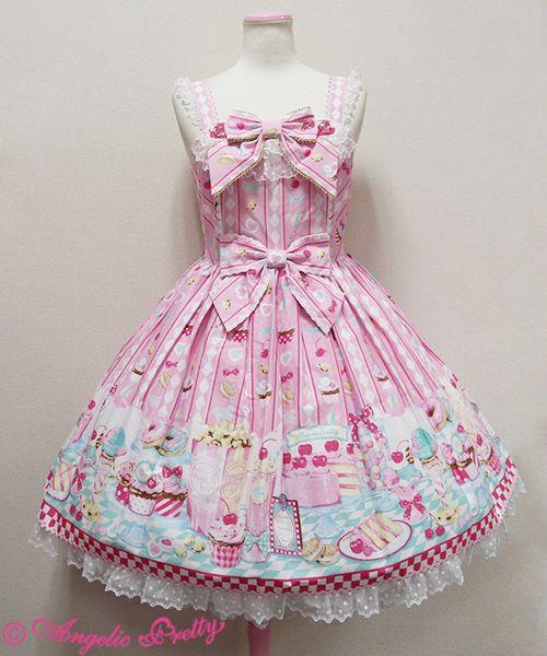 Lolibrary   Angelic Pretty - JSK - Diner Doll JSK