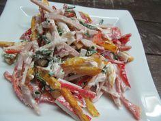 Картофель, болгарский перец, зеленый лук, буженина, крабовые палочки, майонез…