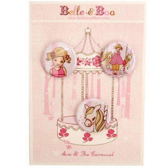 What Alice Found - Carosel badge set
