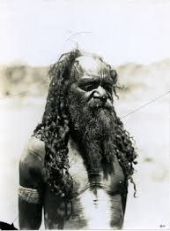A photograph taken of one of their informants, an Arrernte elder living in Alice Springs. Photograph taken by Spencer or Gillen in 1896.