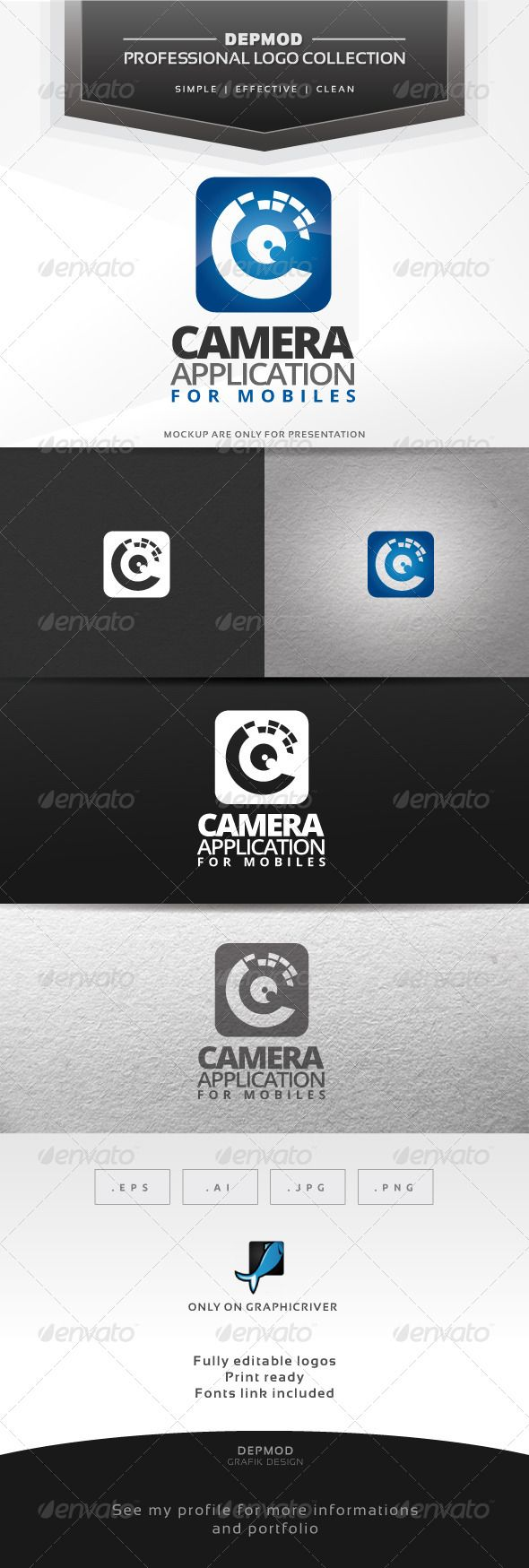 Camera Application Logo — Vector EPS #mobile #pixel • Available here → https://graphicriver.net/item/camera-application-logo/6788272?ref=pxcr