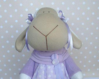 sheep textile-soft toy-gift-fashion toy-textile by GumeniukToys
