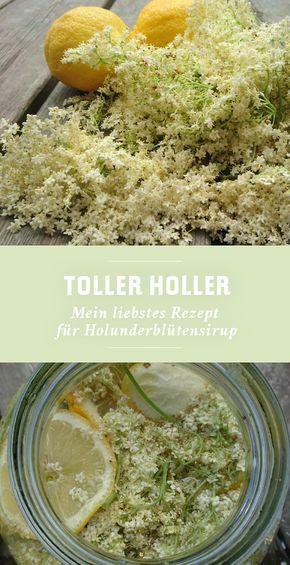 Hollersaft selber machen » Rezept für Holunderbl…