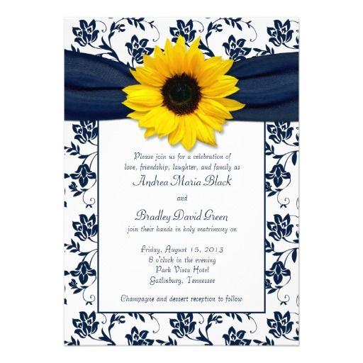 Best 25 Yellow wedding invitations ideas – Sunflower Wedding Invitations Kits