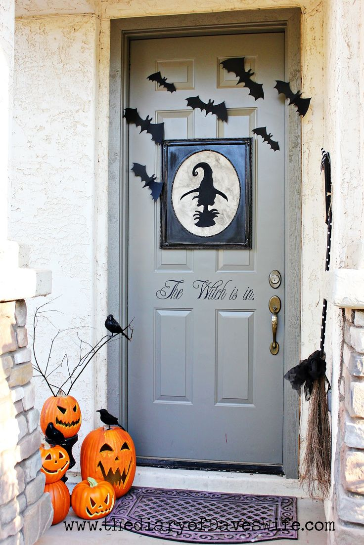 181 best Halloween decorations images on Pinterest Happy halloween - Front Door Halloween Decorations