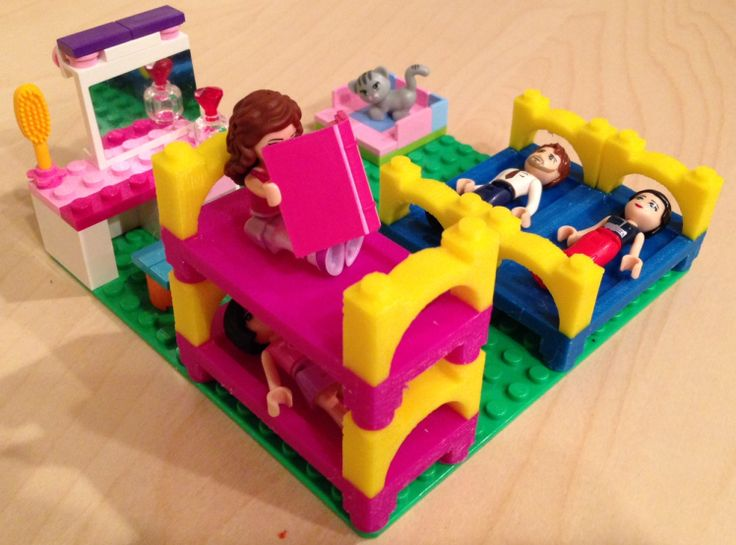 Lego Bunk Bed 3DFileMarketcom Legorific Pinterest