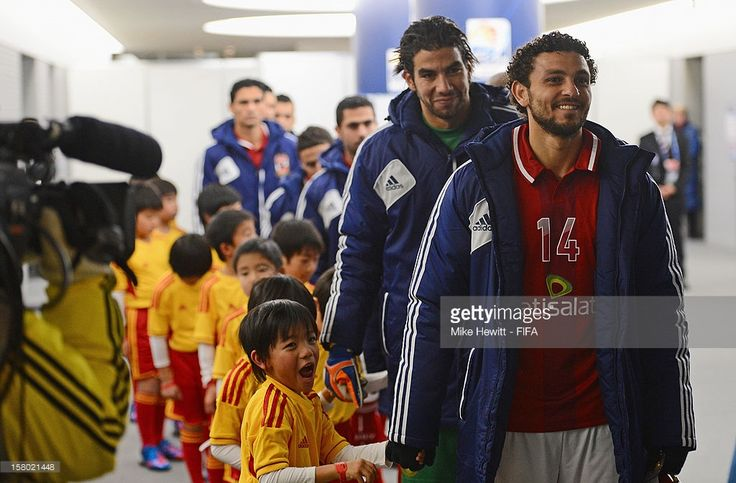 Captain Hossam Ghaly of Al-Ahly waits to lead his team out for the FIFA Club World Cup Quarter Final match between Sanfrecce Hiroshima and Al-Ahly SC at Toyota Stadium on December 9, 2012 in Toyota, Japan.