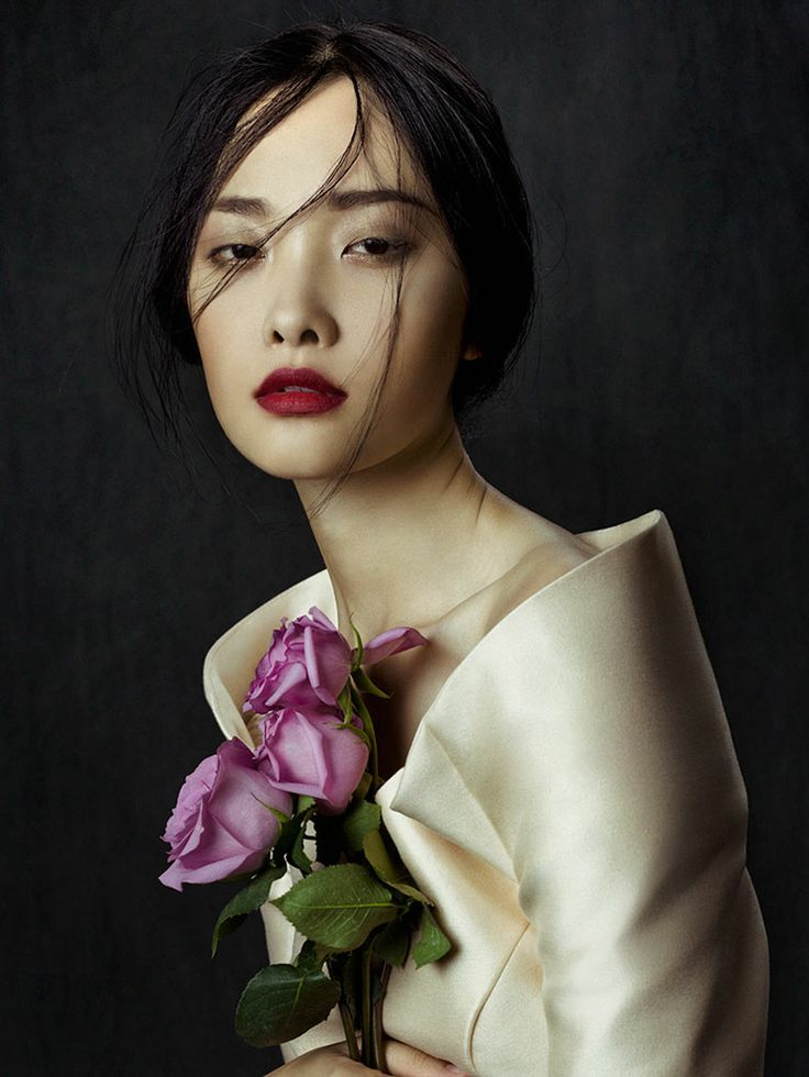 ♀ woman portrait Flowers in December by Zhang Jingna