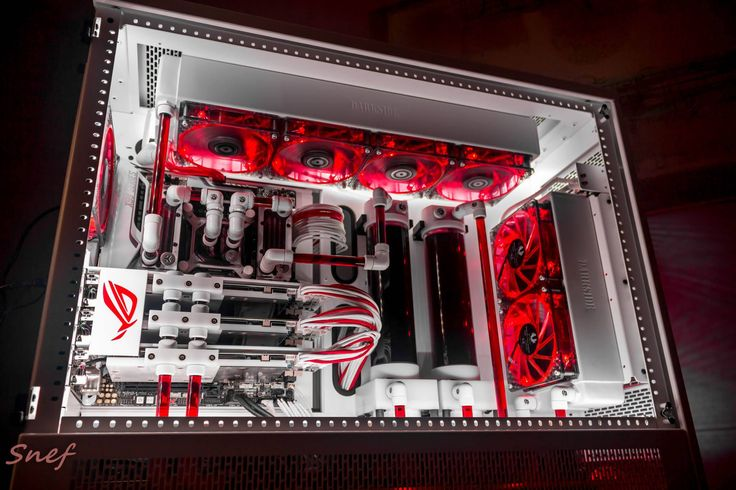 "Gaming Rig from Snef Design codename : "" Blood Angel "" another look"