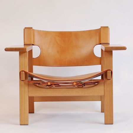 Børge Mogensen, 1914-1972: The Spanish Chair. Oak with leather