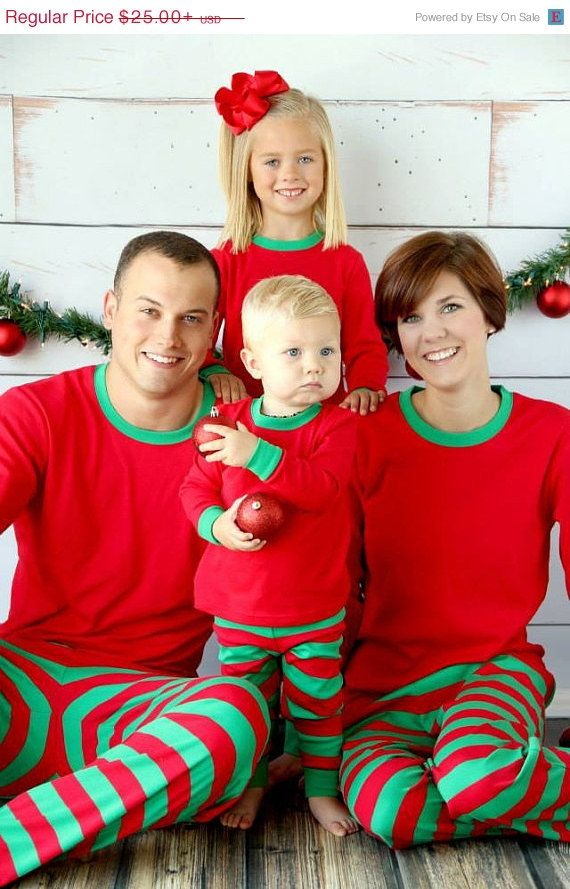 Personalized Christmas Pajamas Monogrammed by RedElephantClothing, $25.00