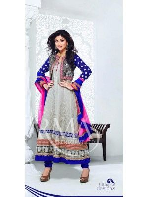 Shilpa shetty Blue And Off White Anaarkali With Full Sleeve Check our New Bollywood collection, http://20offers.com/Salwar-Kameez/party_and_festival_suits/shilpa_shetty_blue_and_off_white_anaarkali_with_full_sleeve#.U0U-x6iSzxA , Available for shipping worldwide,  Buy Bollywood Suits at lowest price in USA, CANADA, AUSTRALIA, NEW ZEALAND, SINGAPORE, MALYASIA ,UK, NETHERLANDS, FRANCE, JERMANY - Indian Clothing Online!