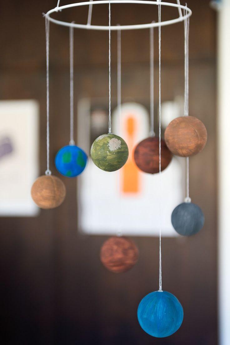 Craft Ideas For Kids Solar System Part - 28: DIY Solar System Mobile
