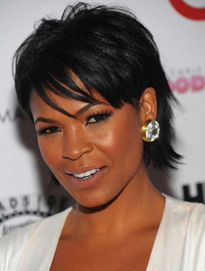 Cute Black Hairstyles For Short Hair ~ http://wowhairstyle.com/cute-black-hairstyles/