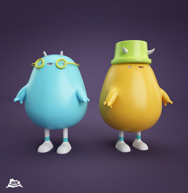 AIR MONSTER!!! by AARON MARTINEZ, via Behance