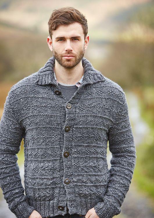 Fell Cardigan in Rowan Hemp Tweed Chunky - Free Pattern
