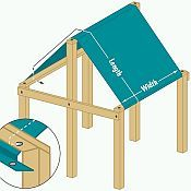 Replacement Canopy Tarps for your swing set or outdoor playset.