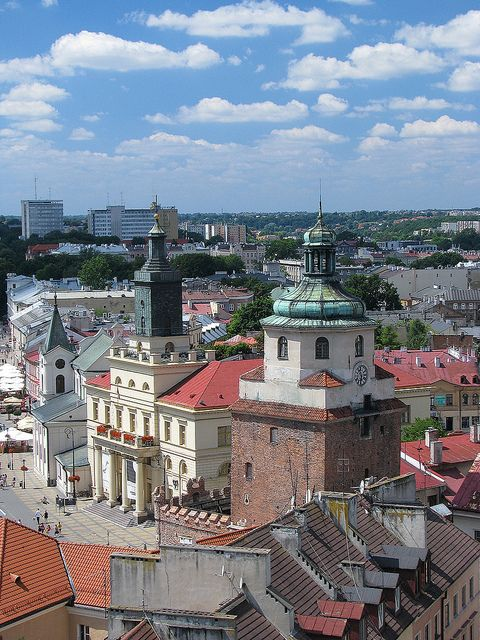 City of Lublin seen from Trynitarska Tower - Poland