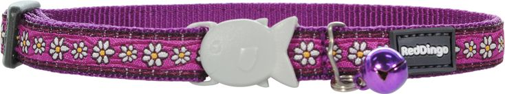Red Dingo Designer Cat Safety Collar - Daisy Chain (Purple)
