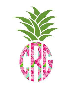 Lilly Pulitzer Inspired Car Decal Lily Preppy Decal Phone Decal laptop Decal Monogram Pineapple Decal Personalized Pineapple Bumper Sticker by TGNCreations on Etsy