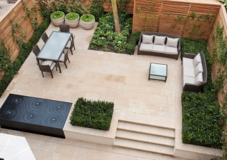 Side garden idea for expanded usage...London townhouse garden