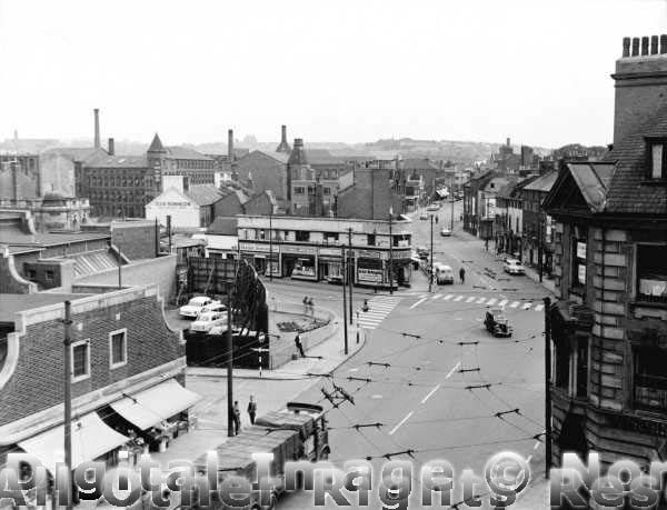 Southwell Road looking towards Carlton Road August 1963