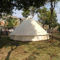 5M Diameter Canvas Bell Tent Camping Bell Tent For Outdoor With Chimney