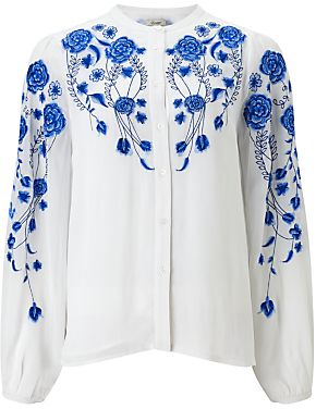 Somerset by Alice Temperley Embroidered Shirt, White