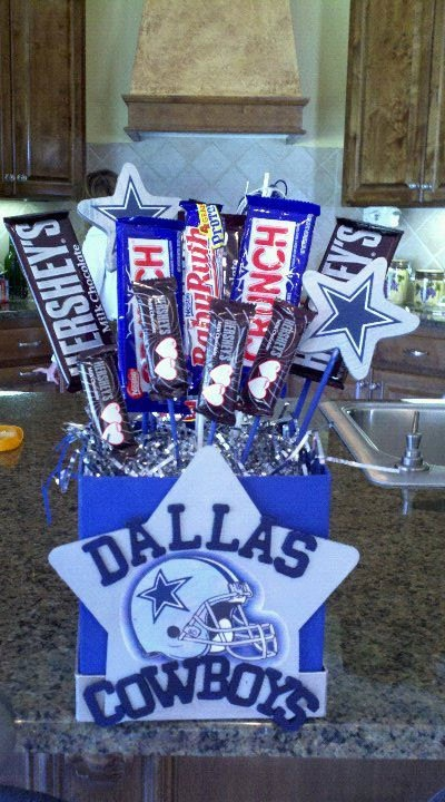 Dallas Cowboys Candy Bouquet by CraftyPantaloons on Etsy, $32.00