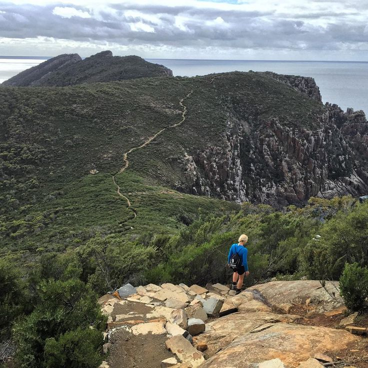 Following the Three Capes Track along the cliff edges on the Tasman Peninsula. These cliffs are the highest in the Southern Hemisphere and provide spectacular views out over the majestic and powerful Southern Ocean.