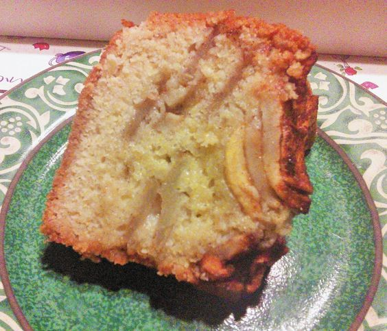 My grandmother would have this wonderful, dense and moist apple cake sitting on her buffet often. I would keep taking little slices until a third of it would disappear. My mom got this recipe from a friend of hers and she has made it several times with great success. Now it's my turn to take a try at this lovely cake and I'm taking you with me. For a bit more sweetness, you could also add a glaze and drizzle it on top. I'm betting a scoop of vanilla ice cream would also go lovely with this.