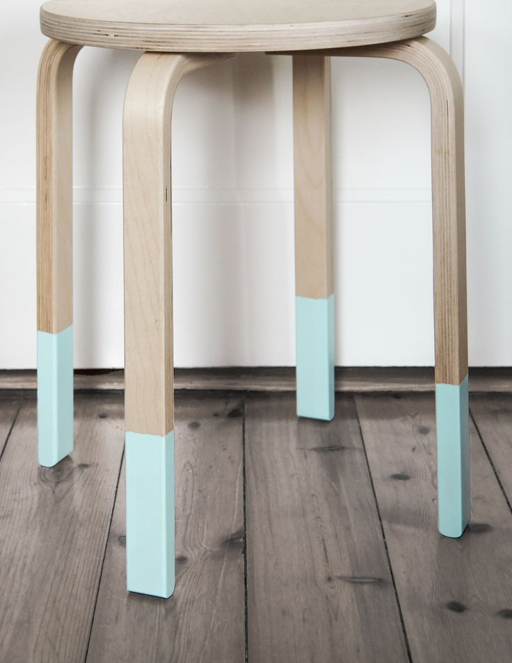 Pastell U0026 Holz: Hocker Upcycling In Mint
