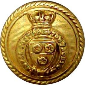Royal Southampton Yacht Club – Roped Rim 16.5mm with Queen Victoria's Crown. Gilt Yacht or Boat Club jacket button