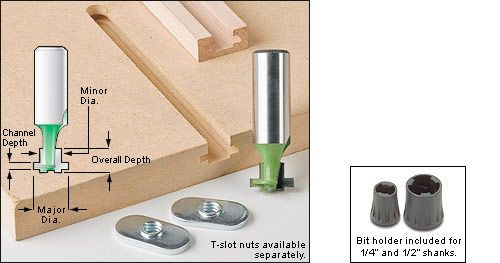 This is a cheaper way to create T-track. Works well in maple or mdf for fences or drill press tables.
