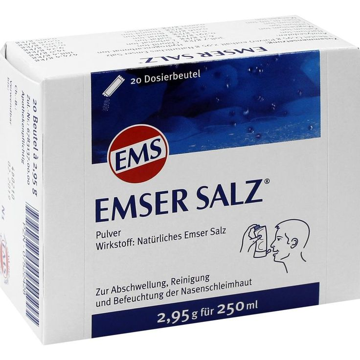 EMSER Salz Beutel:   Packungsinhalt: 20 St Pulver PZN: 07522428 Hersteller: SIEMENS & Co Preis: 4,76 EUR inkl. 19 % MwSt. zzgl.…