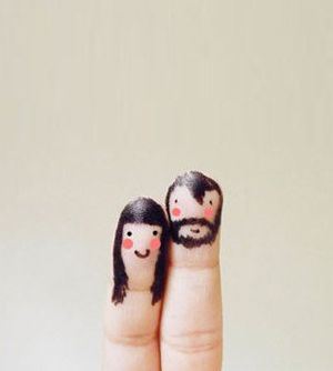 Make these little guys when your kids are bored. In the waiting room.: Kids Stuff, Cute Couple, Inspiration Photography, Fingers People, Funny Fingers, Things, Fingers Art, Anniversaries Cards, Fingers Puppets