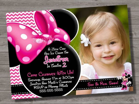136 best Minnie Mouse Invitations images – Minnie Mouse Personalized Birthday Invitations
