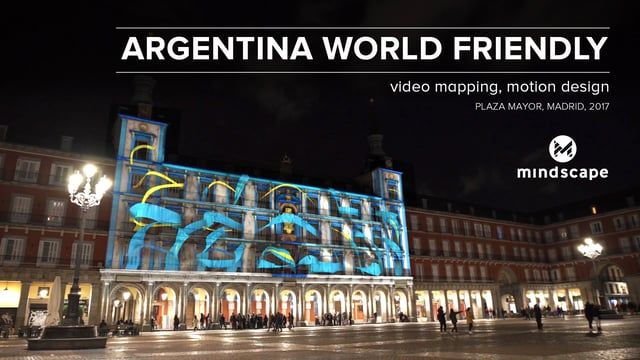 How is it to do a video mapping, in Spain, to promote the tourism in Argentina? We can show you how with this project that we made on January 21, 2017, in Plaza Mayor in Madrid. In our projection we covered the six areas of Argentina: Buenos Aires, Cordoba, Litoral, Norte, Cuyo and Patagonia, that are extremely attractive and lively, which we merged with the Argentian flag colors. Simple and effective.  www.mindscapestudio.ro www.facebook.com/mindscapestudio.ro