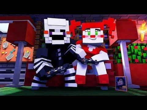 Circus Baby and Puppet Play Video Games - (Minecraft FNAF