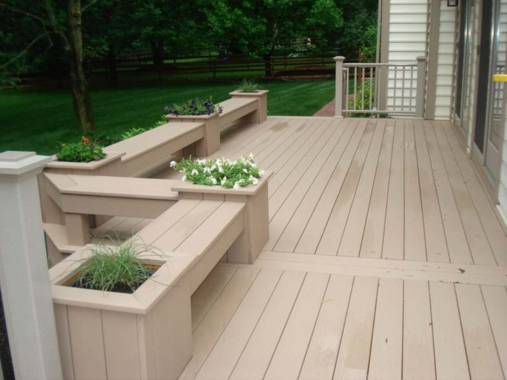 88 best images about creative deck designs on pinterest for Flower bench ideas