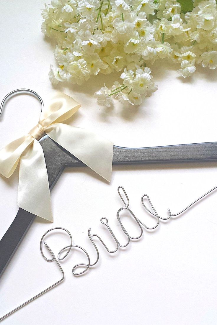 These bridal wedding dress hangers are a great way to make the wedding day photos extra special.. Perfect as a surprise gift for the bride! *To make things easier for everyone,there is no additional c