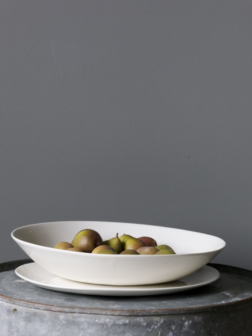 white bowls and pears #pottery #white