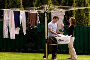 Learn how to install a rotary clothes line in your garden with the step-by-step instructions in this diy guide.